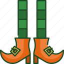leprechaun, shoes, leprechaun shoes, irish, st patricks day, luck, festival