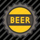 beer sign, beverage, cap, patrick icon