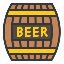 alcohol, beer barrel, container, drink icon