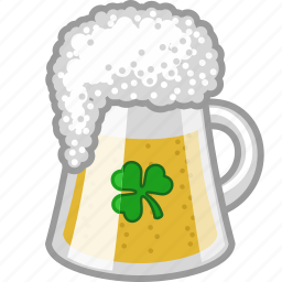alcohol, beer, drink, irish, lager, pub, shamrock icon