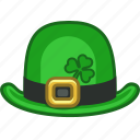 bowl, bowlhat, hat, irish, leprechaun, shamrock, tophat icon