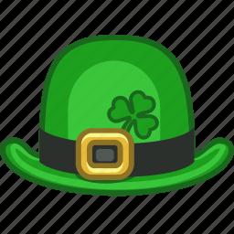 bowl, bowlhat, hat, irish, leprechaun, shamrock, tophat icon