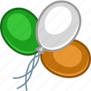 balloon, baloon, baloons, color, ireland, irish, patrick icon