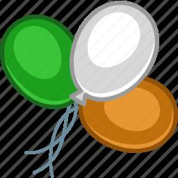 balloon, baloon, baloons, color, ireland, irish, patrick icon