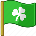 clover, flag, ireland, irish, saint patrick's day, shamrock icon