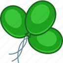 baloons, green, ireland, irish, saint patrick's day icon