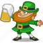 beer, drink, ireland, irish, leprechaun, person, saint patrick icon