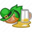 beer, drunk, irish, lager, leprechaun, person, saint patrick icon