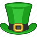 green, hat, ireland, irish, leprechaun, saint patrick, tophat icon