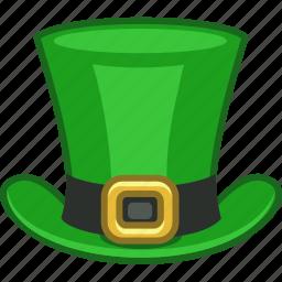 green, hat, ireland, irish, leprechaun, saint patrick, tophat icon
