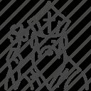 bishop, clover, holy, irish, saint, shamrock, st. patrick icon