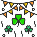 bunting, cultures, irish, st patrick, st patricks day icon