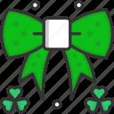 bow, clover, decoration, ribbon