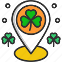 clover, cultures, irish, location pointer, placeholder icon