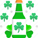 alcoholic drinks, beer bottle, clover, party