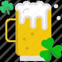 beer, clover, drink, st patrick