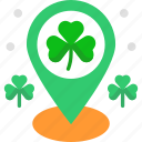 clover, cultures, irish, location pointer, placeholder