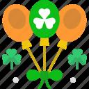 balloons, celebration, clover, saint patrick, shamrock