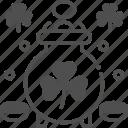 clover, cultures, gold pot, good luck, money icon