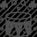 clover, cultures, drum, drumsticks, music icon