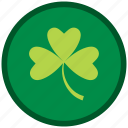 clever, clover, leaf, patricks, shamrock, st patricks day icon