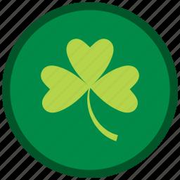 clever, clover, leaf, patricks, shamrock, st patricks day icon