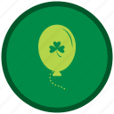balloons, green, patricks, st patricks day icon