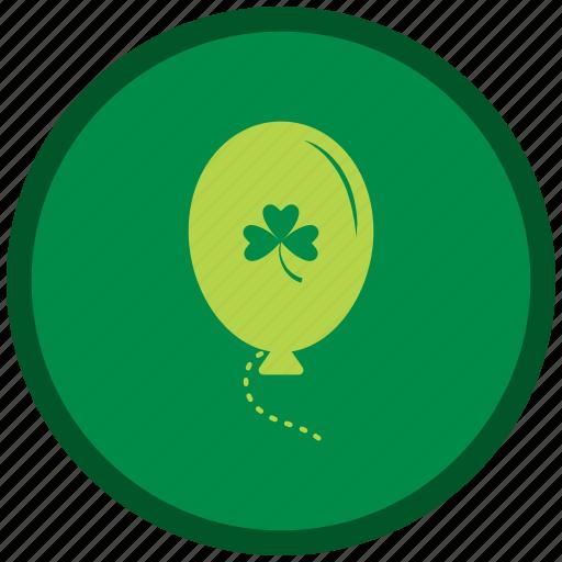 balloons, green, patricks, st patricks day icon
