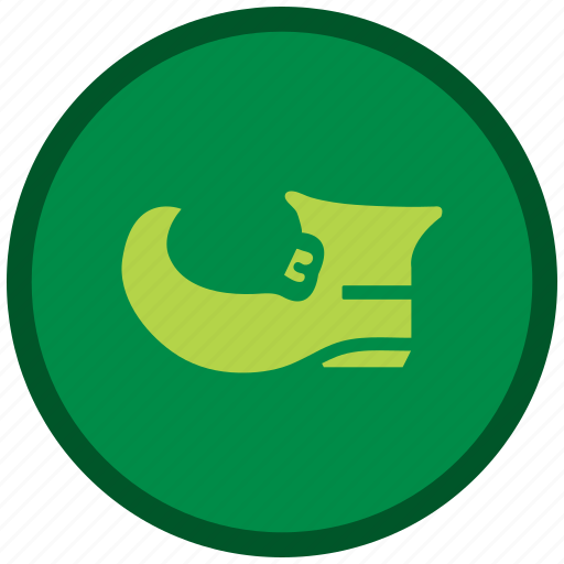 green, patricks, shoes, st patricks day icon