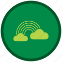 cloud, color, nature, patricks, rainbow, st, st patricks day icon