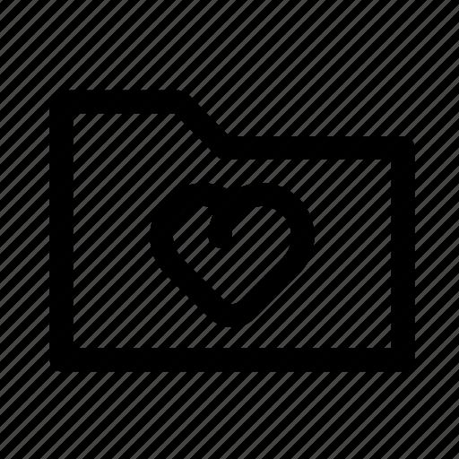 favorite, folder, heart, love, lovely, st. valentine's day, valentine icon