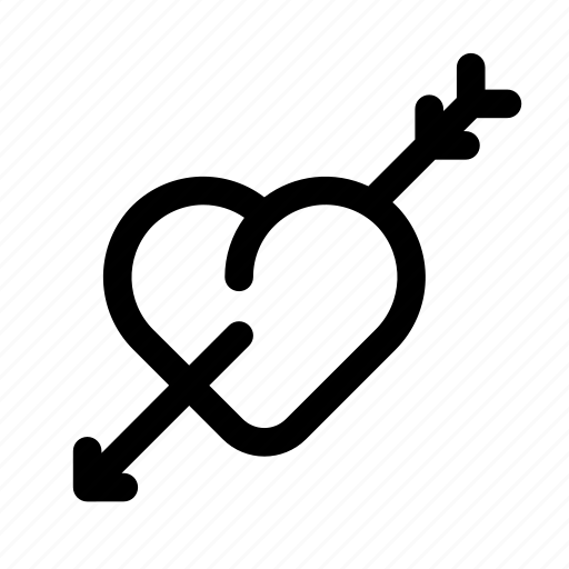 arrow, heart, love, lovely, st. valentine's day, valentine icon