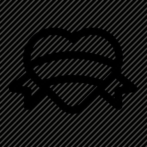 emblem, heart, logo, love, lovely, ribborn, st. valentine's day, symbol, valentine icon