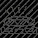 architecture, arena, building, field, real estate, stadium icon