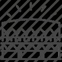 architecture, arena, building, field, landmark, stadium icon