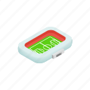 canopy, field, football, game, isometric, soccer, square icon