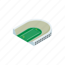 competition, grass, isometric, rugby, stadium, team, tournament icon