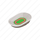 athletic, competition, field, isometric, sport, stadium, track icon