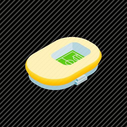 building, football, isometric, oval, soccer, sport, stadium icon
