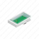 grass, isometric, rugby, square, stadium, team, tournament icon