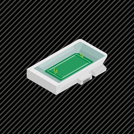 grass, isometric, rugby, square, stadium, team, tournament icon