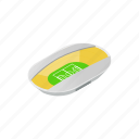canopi, football, isometric, oval, semiclosed, soccer, stadium icon