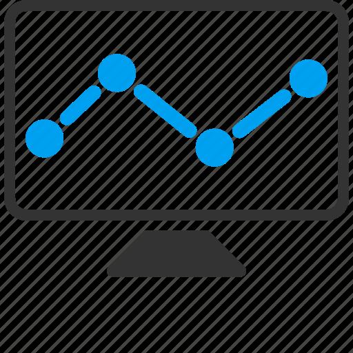 analysis, analytics, chart, charts, diagram, graph, monitor icon
