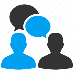 chat, conference, contacts, forum, meeting, message, people talk, speech icon