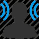 ear, education, listen, radio, recipient, social connection, student icon