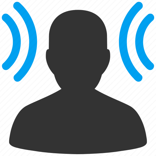 ear, education, listen, radio, recipient, social connection, student icon