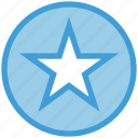 award, badge, bookmark, circle, favorite, rating, star icon