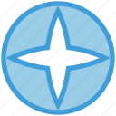 twinkle, circle, star, pole, climate, shine icon