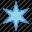 octagonal, shape, star