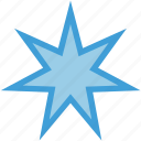 octagonal, seven, shape, star icon